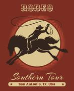 Rodeo Cowboy Poster Piirros