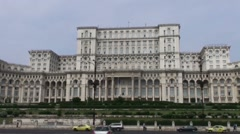 Palace of the Parliament, Romania Stock Footage