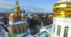 Trinity Lavra of St. Sergius, Russia, Sergiyev Posad. Stock Footage