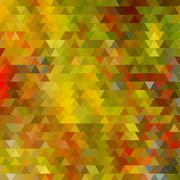 Background with colorful hex grid Stock Illustration