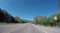 Mesa Verde National Park Vehicle Footage - stock footage