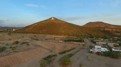 Aerial of A Mountain (Sentinel Peak) in Tucson, Arizona Stock Footage