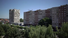 Block of flats - stock footage