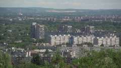 block of flats from distance - stock footage