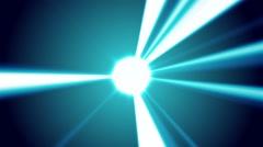 Orb Shinning Light Beams Background Stock Footage