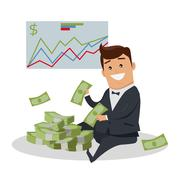 Business Success Concept Illustration Stock Illustration