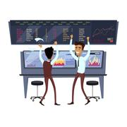 Business Team Work Success Concept Vector - stock illustration