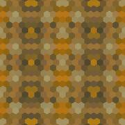 Kaleidoscopic low poly hexagon style vector mosaic background - stock illustration