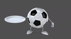 Football - Digital animation Stock Footage