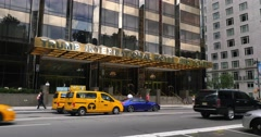 Day Establishing Shot Trump International Hotel in New York City Stock Footage