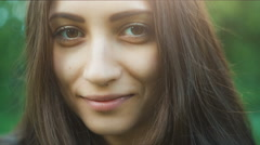 Happy Woman's Face Stock Footage