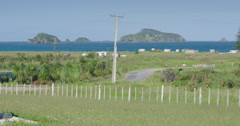 Pioneer church and cemetery at Matauri bay, Northland, New Zealand - stock footage