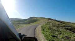 Drive pov on Meandering Road in Sand Hills of Judean Mountains, Israel Stock Footage