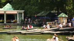 Boats Sailing In Central Park Stock Footage