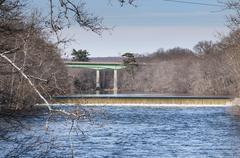 Spillway Blackstone River - stock photo