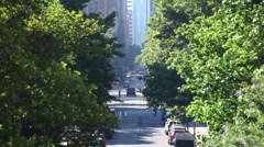 City Street On A Pleasant Day - stock footage