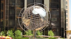 Globe Sculpture In New York City Stock Footage