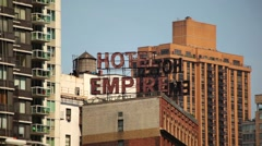 The Empire Of Hotel Signs Stock Footage