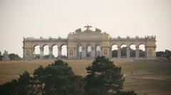 VIENNA -NOV 10, 2015: The Gloriette in Schonbrunn Palace Schloss Schonbrunn by Stock Footage