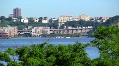 New Jersey Shore On A Sunny Morning Stock Footage