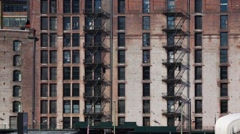 Old Building Facade From Another Era Stock Footage