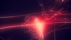 Growing connected dots. Stock Footage