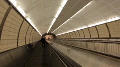 Long Subway Downward Stock Footage