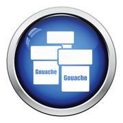 Gouache can icon - stock illustration