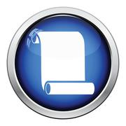 Canvas scroll icon Stock Illustration