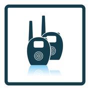 Baby radio monitor icon - stock illustration