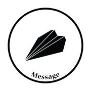 Paper plane icon - stock illustration