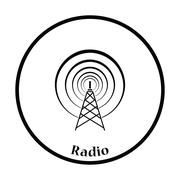 Radio antenna icon - stock illustration