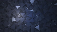 Abstract block shapes in gray hue Stock Footage