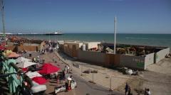 Brighton Beach in Summer Stock Footage