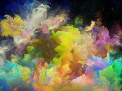 Elegance of Space Nebula Stock Illustration