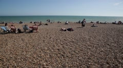 English Beach: summer holidays Stock Footage