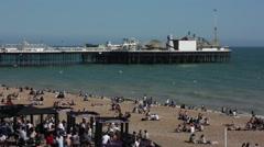 Brighton Beach in the summer Stock Footage