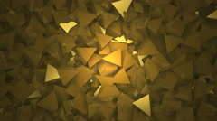 Abstract block shapes in gold hue Stock Footage