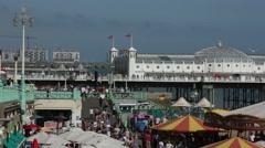 Very Busy Brighton Beach Stock Footage