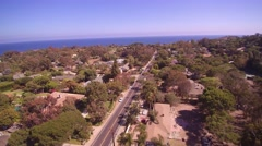 Flying Over Point Dume in Malibu, CA Stock Footage