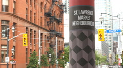 St Lawrence market neighborhood. Toronto, Canada. - stock footage