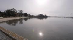 Omokoroa bay near Tauranga - reflection of sun in water Stock Footage