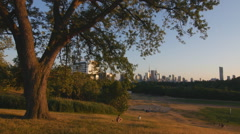 Summer evening in Toronto. Riverdale park in Toronto. Stock Footage