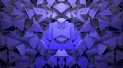Abstract block shapes in blue hue Stock Footage