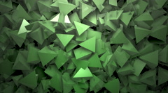 Abstract block shapes in green hue Stock Footage