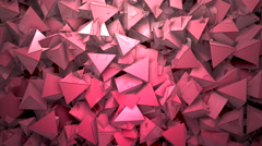 Abstract block shapes textured in red hue Stock Footage