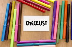 Checklist concept Stock Photos
