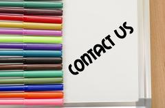 Contact us concept Stock Photos