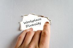 Workplace diversity text concept Stock Photos