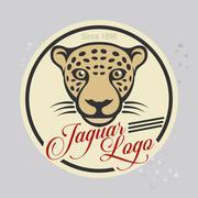 jaguar logo vector - stock illustration